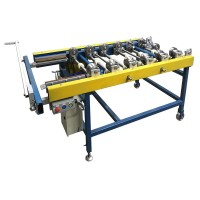Portable machine F3 for double standing seam system. With cross cutting knife and radius rolls